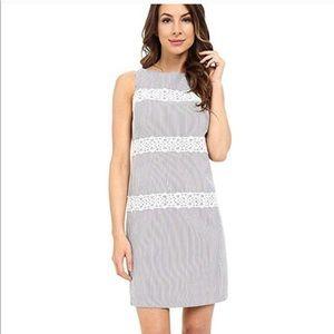 London Times Blue & White Strip Shift Dress